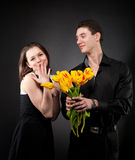 Portrait of a young funny couple Stock Photography