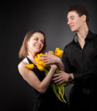 Portrait of a young funny couple Royalty Free Stock Photography