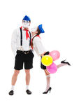Portrait of young funny mimes Royalty Free Stock Image