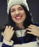 Portrait of young funny woman Stock Image