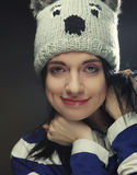Portrait of young funny woman Royalty Free Stock Photography