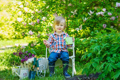 Portrait of a young gardener Stock Image