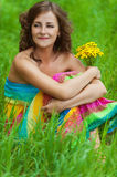 Portrait young gay beautiful woman Stock Photos