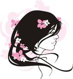 Portrait of the young girl. Image of the young girl royalty free illustration