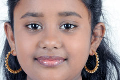 Portrait of young girl. Portrait of indian young girl Stock Photo