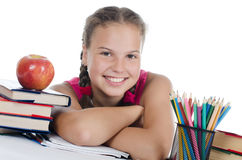 Portrait of the young girl Stock Images