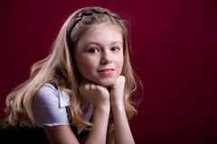 Portrait of a young girl Royalty Free Stock Images