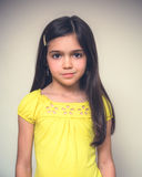 Portrait of a young girl acting Stock Photography