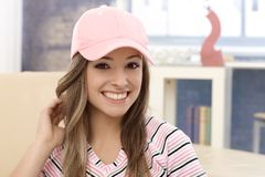 Portrait of young girl in baseball cap Stock Photography
