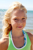 Portrait of young girl on the beach Royalty Free Stock Photography