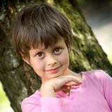 Portrait of young girl with big eyes Stock Photo