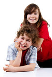 Portrait of young girl and boy Stock Photography