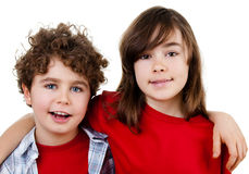 Portrait of young girl and boy Royalty Free Stock Photography