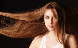 Portrait of young girl with chic hairs Stock Photo