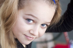 Portrait of a young girl royalty free stock photography