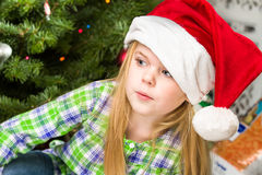 Portrait of a young girl during christmas day Royalty Free Stock Images