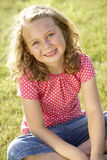 Portrait of young girl in countryside Royalty Free Stock Photo