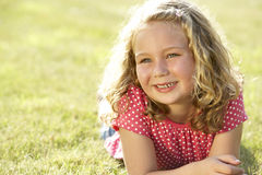 Portrait of young girl in countryside Stock Photo