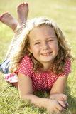 Portrait of young girl in countryside Stock Image