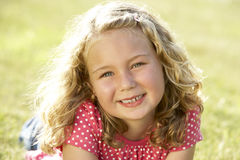 Portrait of young girl in countryside Royalty Free Stock Image