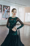 Portrait of a young girl dancer Royalty Free Stock Image
