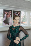Portrait of a young girl dancer Stock Photography