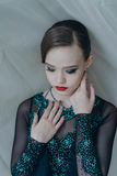 Portrait of a young girl dancer Royalty Free Stock Photos