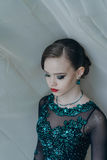 Portrait of a young girl dancer Stock Photos