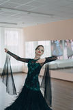 Portrait of a young girl dancer Stock Image