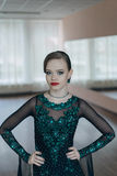 Portrait of a young girl dancer Royalty Free Stock Photography