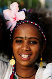 Portrait of the young girl from Ethiopia with the cross tattooed on the head Royalty Free Stock Photography