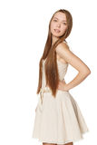 Portrait of young girl in light dress Royalty Free Stock Photos