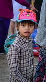 Portrait of young girl at market in Phan Thiet, Vietnam Royalty Free Stock Images