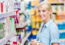 Portrait of young girl at the market Royalty Free Stock Image