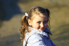 Portrait of young girl with nice braids Royalty Free Stock Photography