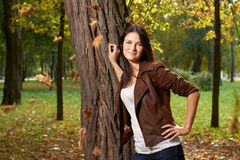 Portrait of young girl outdoors Royalty Free Stock Photos