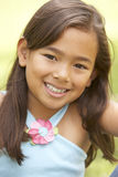 Portrait Of Young Girl In Park Royalty Free Stock Photos