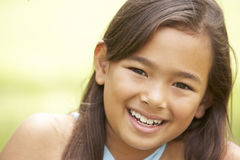 Portrait Of Young Girl In Park Stock Photography