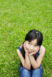 Portrait of young girl in the park Stock Photography