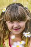 Portrait of young girl with pigtails Royalty Free Stock Image