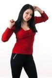 Portrait of a young girl in positive attitude Stock Photos