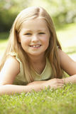 Portrait Of Young Girl Relaxing In Countryside Royalty Free Stock Image