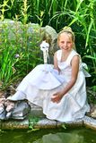 Portrait of an young girl, religious celebration Stock Photo