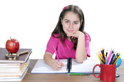 Portrait of a young girl in school Royalty Free Stock Photo
