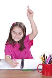 Portrait of a young girl in school Royalty Free Stock Photography