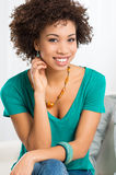 Portrait Of Young Happy Woman Stock Photo