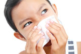 Girl With Common Cold Royalty Free Stock Images