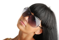 Portrait of the young girl in sunglasses Royalty Free Stock Image