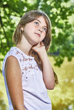 Portrait of young girl Stock Photos