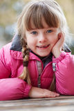 Portrait Of Young Girl Wearing Winter Clothes Royalty Free Stock Photo
